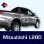 Mitsubishi-L200-protectores-de-puerta-del-frotamiento-Tiras-Proteccion-Lateral-Molduras-Kit miniatura 2