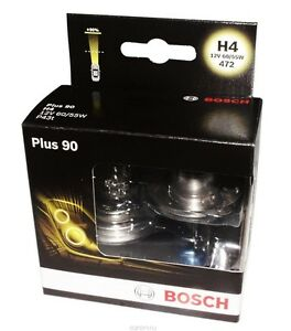 bosch h4 9003 hb2 plus 90 halogen headlight bulb 1 987 301. Black Bedroom Furniture Sets. Home Design Ideas