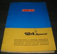 Ersatzteilkatalog Karosserie Fiat 124 Spezial Stand Juni 1970