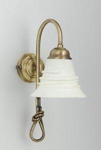 Applique Da Parete Lume Per Bagno In Ottone E Ceramica ab-28024   eBay