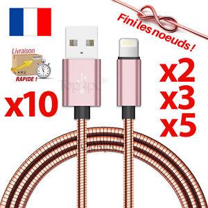 CABLE-POUR-IPHONE-7-6-5-8-PLUS-IPAD-IPOD-CHARGEUR-USB-METAL-RENFORCE-CUIVRE-ROSE
