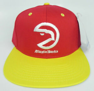 9ae834b949896 ATLANTA HAWKS NBA VINTAGE FLAT BILL SNAPBACK RETRO 2-TONE CAP HAT ...