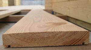 Das Bild Wird Geladen 1 Muster Douglasie Bombiert Terrassendielen Holz 1 M