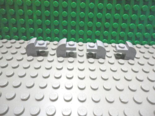 Lego 4 Light Bluish Gray 1x2x1 Smooth Curved Arch brick block NEW