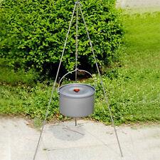Cooking Tripod Pot Stand Charcoal bbq Firebowl Camping Bushcraft Dutch Oven Pan