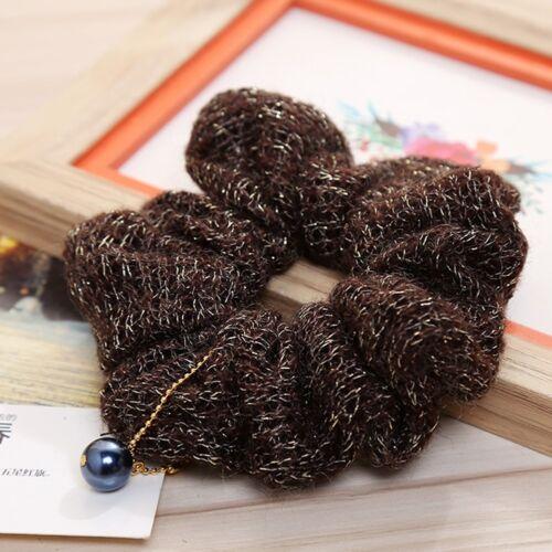 1X Lady Bun Tie Scrunchies Ponytail Holder Hair Accessories Elastic Hair Band