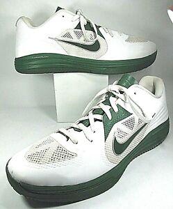 circuito Persona australiana forma  Nike Lunarlon Men's Green/White Basketball Shoes, Size 17 | eBay