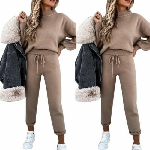 DE Damen Mode Freizeitanzug Trainingsanzug Pullover Hose Hausanzug  Jogginganzug