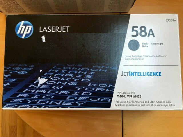 Genuine HP 58A Toner Cartridge CF258A Black For LaserJet M404 MFP M428 Black Box