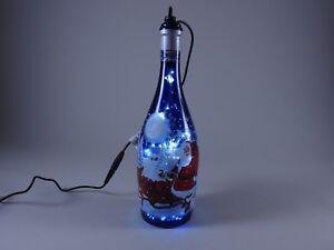 Weihnachtsmotiv-Flaschen-Lampe-Haengelampe-mit-125-LEDs-Wunderschoen-Einmalig