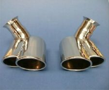 Porsche 996 Carrera Twin Tail Pipe tips Stainless Steel X50 Turbo look 2002-2005