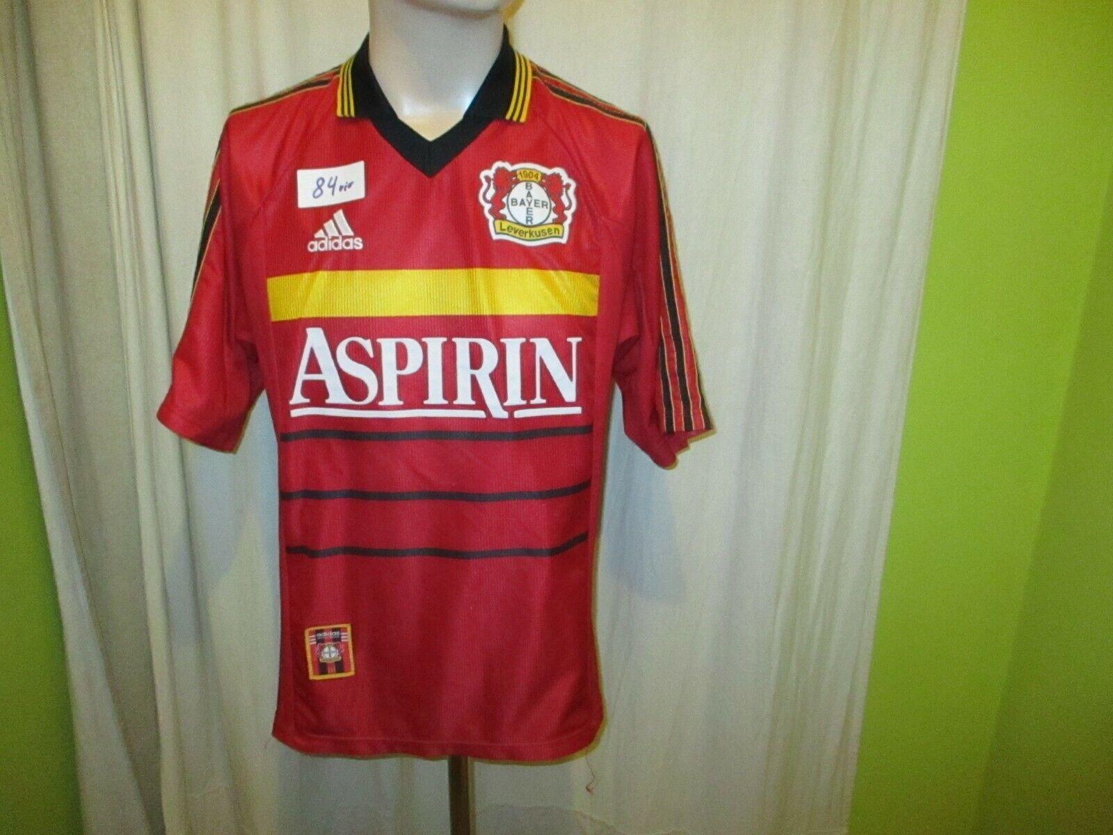 Bayer 04 Leverkusen Original Adidas Heim Trikot 1998 99  ASPIRIN  Gr.M