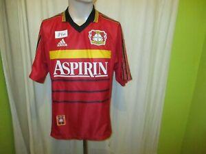 Bayer-04-Leverkusen-Original-Adidas-Heim-Trikot-1998-99-034-ASPIRIN-034-Gr-M