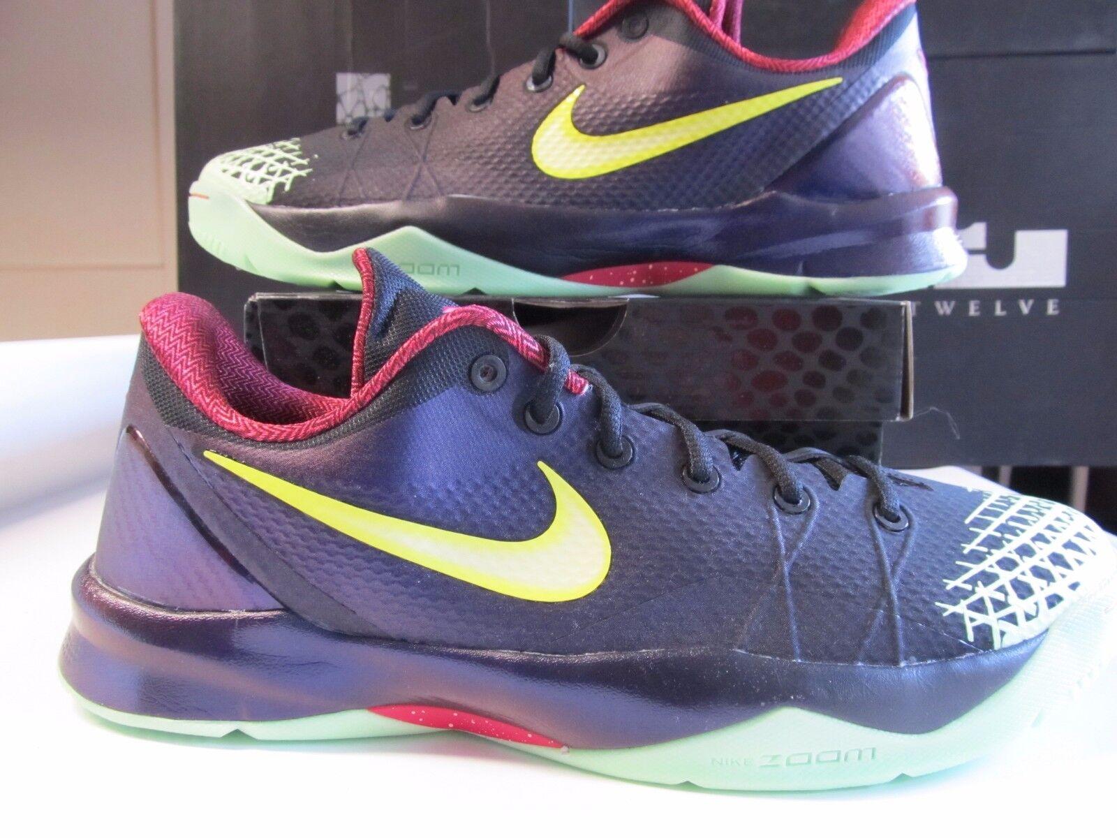 Nike Zoom Kobe Venomenon 4 Black Lemon Chiffon Purple GLOW IN DARK 13 635578 003