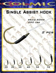 Amo-colmic-assist-hook-Vertical-Jigging-60mm-250LBS-2pcs