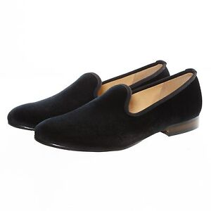 plain velvet slippers loafers wedding dress shoes slip
