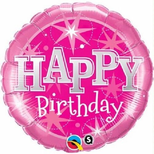 "Joyeux AnniversaireStarsPink Sparkle 18/"" Parti Foil Balloon Qualatex"