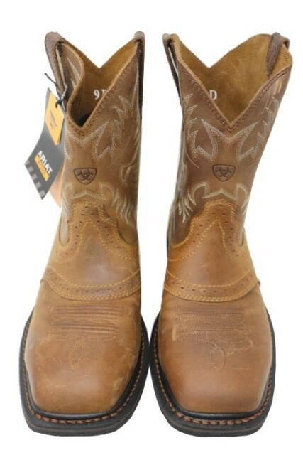 959f7b0ca87 Ariat Men's 10 Inch Sierra Wide Square Steel Toe Cowboy BOOTS 9 2e Brown