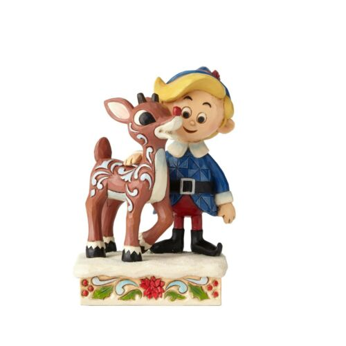Enesco Jim Shore Rudolph Traditions Hermey Hugging Rudolph #6001594 NIB