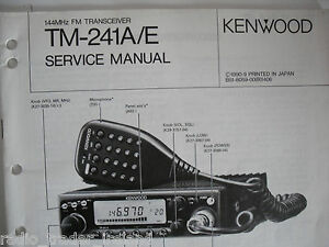 kenwood tm 241a e genuine service manual only rh ebay ie kenwood tm 241a manual free kenwood tm 241 a mods