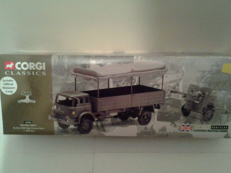Corgi classics fighting vehicles british army bedford mk high canvas + 25lb gun
