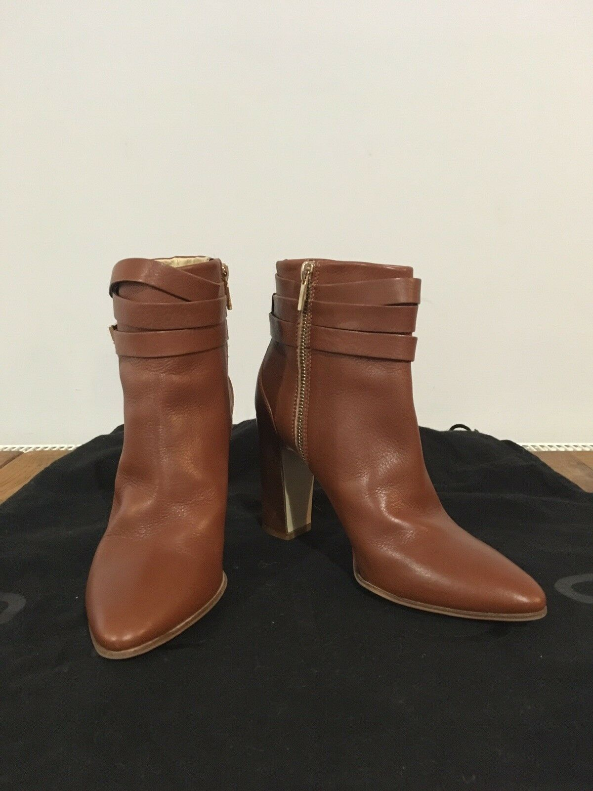Hobbs London Tan Leather Ankle Boots Size 37 (4)