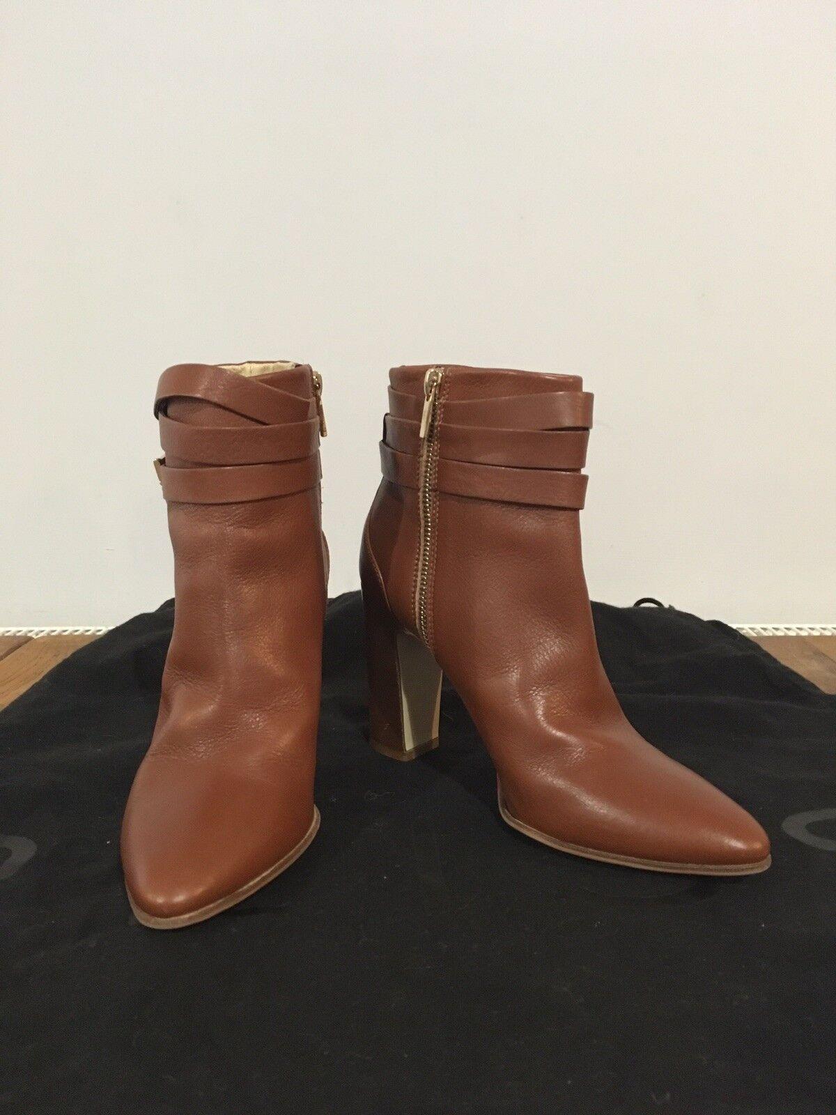 Hobbs London Tan Leather Ankle Stiefel Stiefel Stiefel Größe 37 (4) f2def8