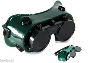 Cutting Grinding Welding Goggles With Flip Up Glasses  Oxigen Acetilene Welding  794685323973