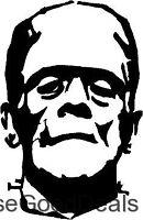 One (1) Black Frankenstein Haunted Vinyl Decal Car Window Stickers Wall