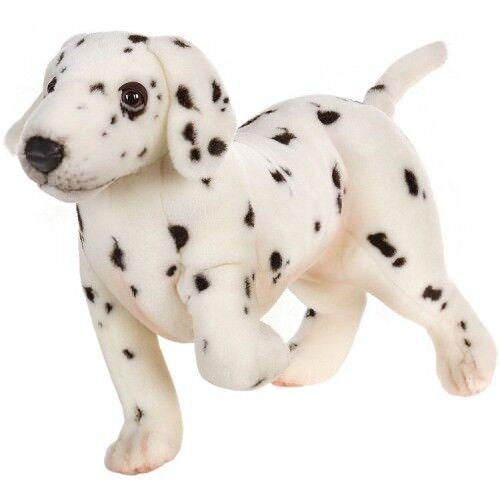 New NWT Hansa Life Like Handmade Stuffed Animal Puppy Dog Dalmatian Standing