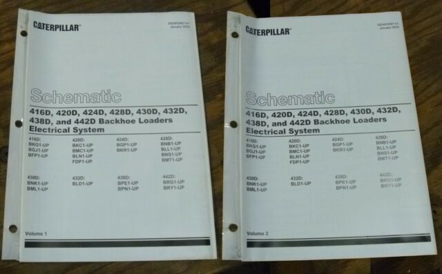 Caterpillar 416d 420d Backhoe Loader Electrical Wiring Diagram Schematic Manual