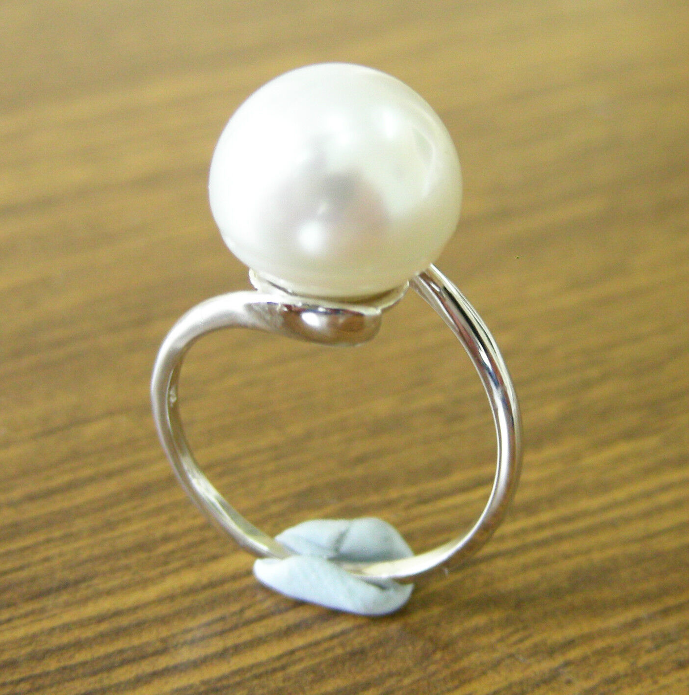 10mm   AUST SOUTH SEA WHITE PEARL 100% UNTREATED+18ct WHITE gold RING+APPRAISAL