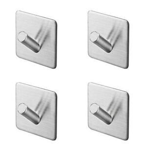 3M Self Adhesive Hooks 304 Stainless Steel Wall Towel Holder Towel Hooks 2PCS