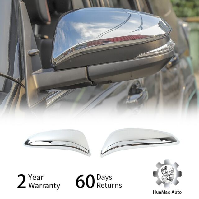 For 2014-2019 TOYOTA 4Runner Highlander RAV4 Chrome Mirror Covers Overlays
