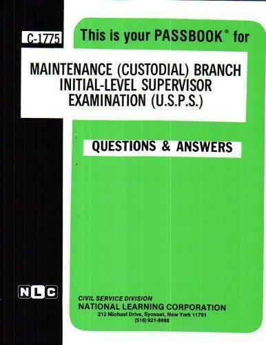 National Learning Corporation-Maintenance (Custodial) Branch Initial-Le BOOK NEW