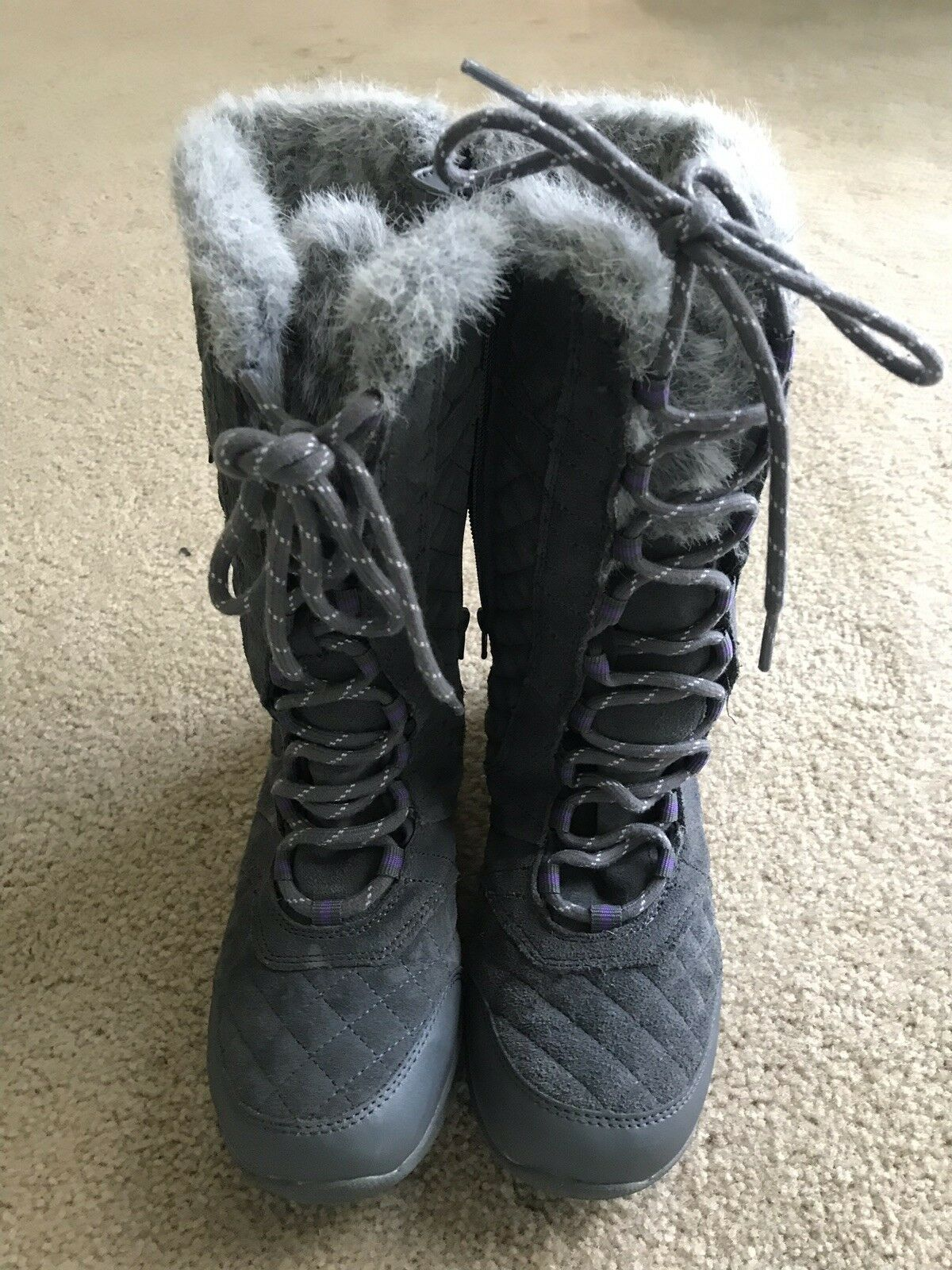 Sketcher Descender Andes Snow Boots Water Resistant Pre-Owned Size 6.5 Pre-owned