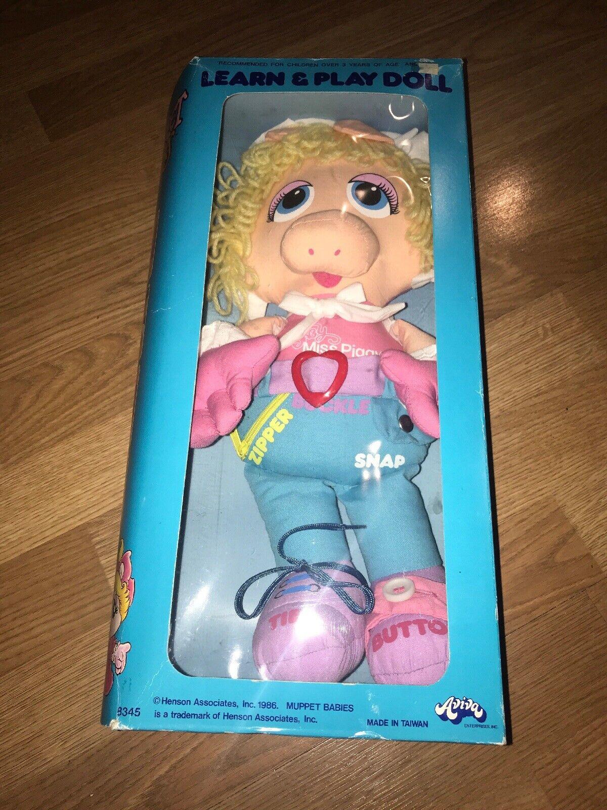 Nuevo ¡Nuevo MISS PIGGY 1986 baby of of of marionetas 1cb