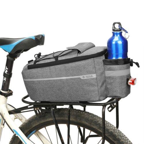 US Bike Motor Bicycle Rear Rack Seat Trunk Saddle Tail Storage Pannier Pouch Bag