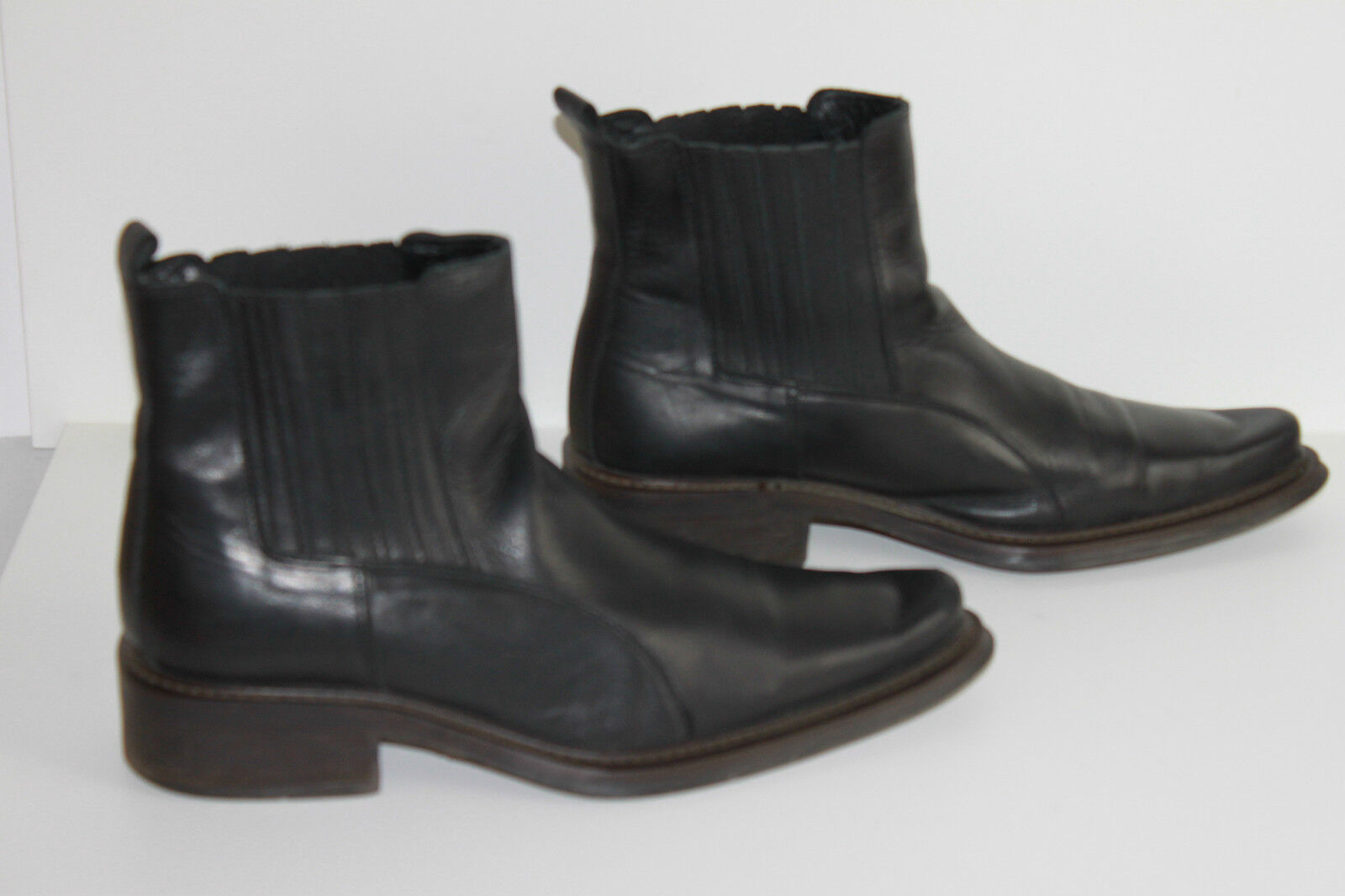 Boots Homme OUT SHOES Compagnie Cuir black LARGES T 40 BE