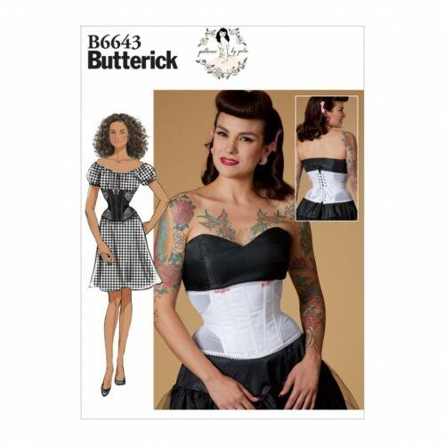 fp Butterick Sewing Pattern 6643 Gratis Reino Unido P/&p Butterick - 6643-M
