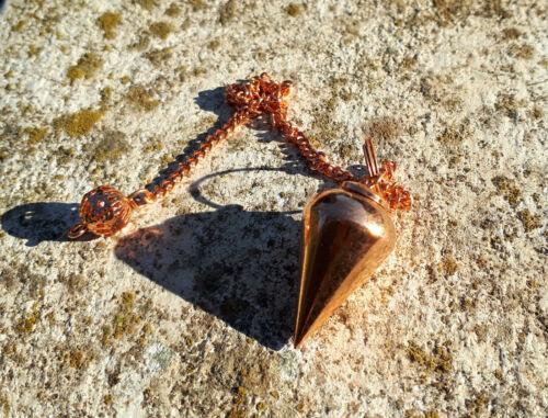 PENDOLINO CLASSIC metallo RAME pendolo radioestesia divinazione wicca zen