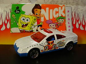 Jimmy-Neutron-POLICE-CAR-white-blue-red-Matchbox-nickelodeon-loose-Nick