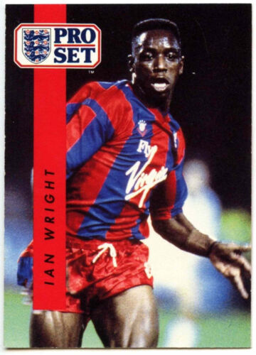 Ian Wright Crystal Palace #61 Football Set Pro commerce 1990-1 carte C363