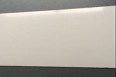 0,395 Euro/lfm 50 M Abs-kante 64mm Umleimer 0,6 Mm Hochglanz Weiß Schutzfolie Belebende Durchblutung Und Schmerzen Stoppen
