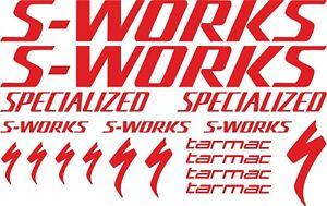 S WORKS Vinyl Bike Decals Stickers Sheet Bike Bicycle Cycling Sport MTB Road