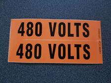 Panduit Pcv 480by Voltage Marker Vinyl 480v Voltage Cd 480 Volts Pk9