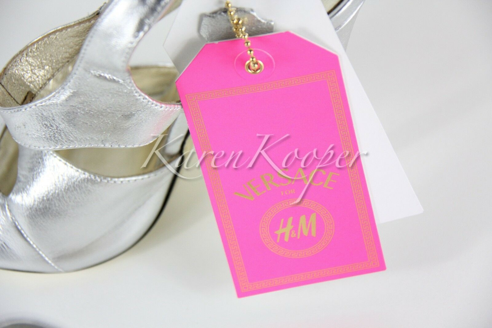 AUTHENTIC VERSACE VERSACE AUTHENTIC for H&M High Heels SLINGBACK Schuhes US 9 Leder Silver RARE 81d3c5