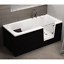 miniatura 10 - Badewanne für Senioren Tür rechts und integrierter abnehmbarer Sitzbank 180 cm