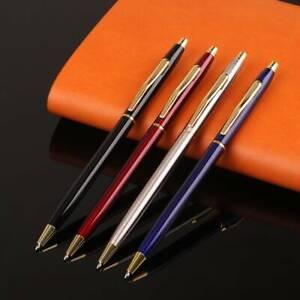 Luxury-Full-Metal-Ballpoint-Pen1mm-Black-Ink-Gel-Pen-Office-Writing-Stationery-l