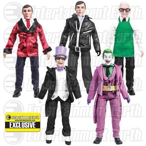 Batman Classic 1966 TV Series 8 inch Figures Set of 5 EE Exclusive In Stock!